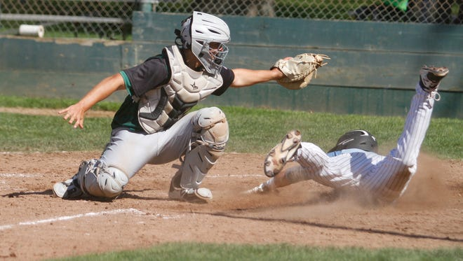 Catcher Tanner Tweedt (left) was one of four Red Bluff baseball players named to the Eastern Athletic League's 2018 all-league team.