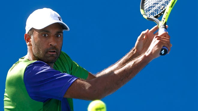 Rajeev Ram, shown here at last month's Australian Open, has reached the finals in Delray Beach this weekend.