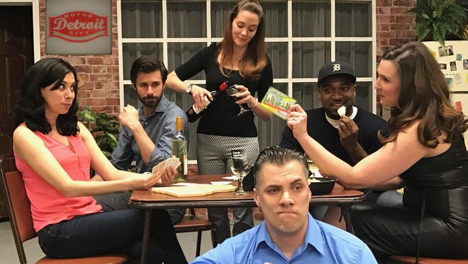 """Assembly Line Theatre Company launches this weekend  with its first production,""""(Profanity) White People,"""" by Sean Paraventi. The original play's cast includes Cassandra Svacha, left, Mitch Koory, Anne Damman Koory, Brian Taylor, Dez Walker, and Ann Katherine."""