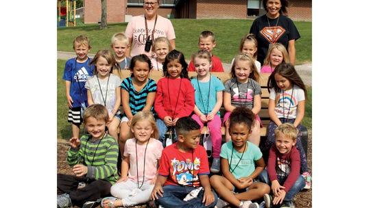 Mrs. Rossbach's kindergarten class at Sleepy Eye Elementary School.