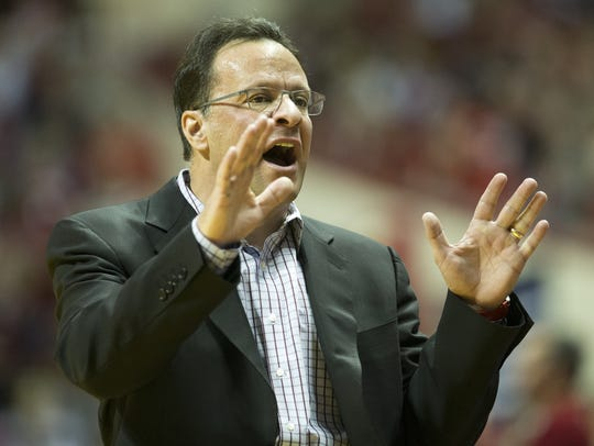 Tom Crean, Head Coach of Indiana, Michigan at Indiana