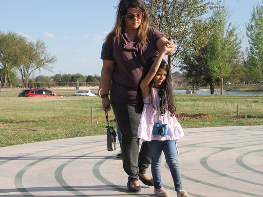Ekta Patel and her daughter, 4-year-old Ariana, were