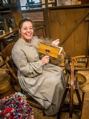 Carding wool is a favorite demonstration at Vermont History Expo.