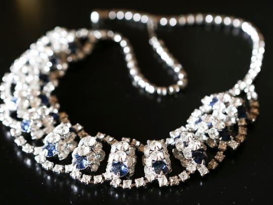 Favorite things from Stylemaker Maggie Lanham.  Rhinestone necklace.September 10, 2015