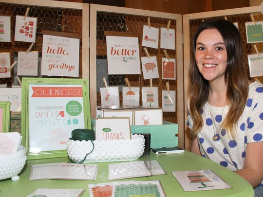 Blake Kermode of Oh Goodness Paperie on Market Day