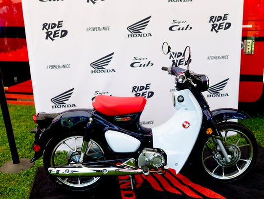 The brand-new Super Cub is unveiled at the MNNTHBX