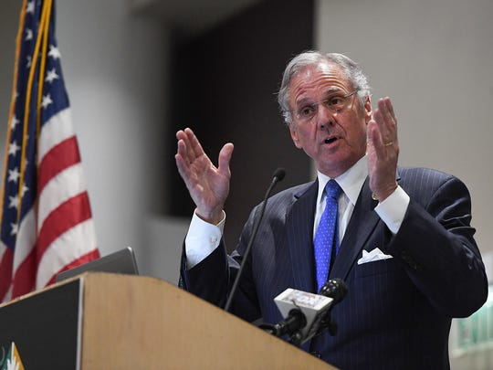 South Carolina Gov. Henry McMaster speaks at the Upstate