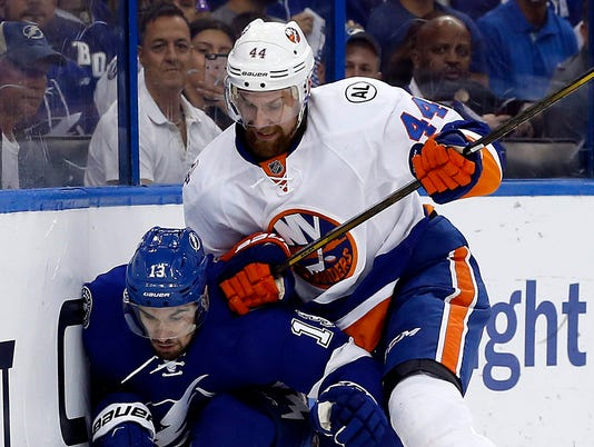 USP NHL: STANLEY CUP PLAYOFFS-NEW YORK ISLANDERS A S HKN USA FL