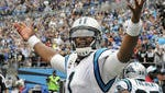 Cam Newton threw five touchdown passes against the Giants,