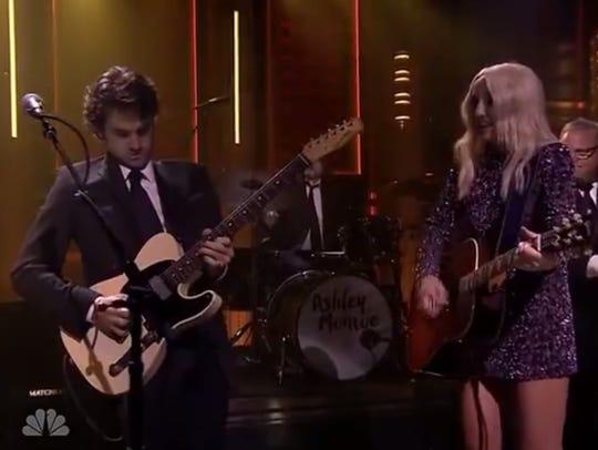 "Johnny ""Duke"" Lippincott and Ashley Monroe perform"