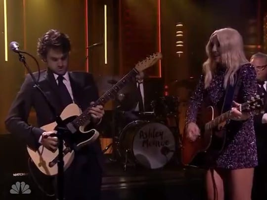 """Johnny """"Duke"""" Lippincott and Ashley Monroe perform on """"The Tonight Show Starring Jay Leno"""" earlier this year."""