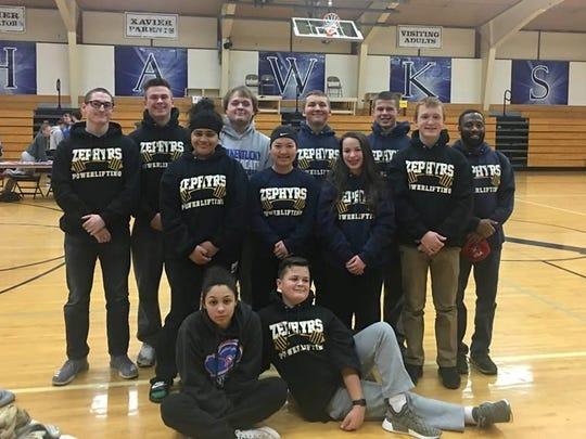The St. Mary Catholic High School Powerlifting team