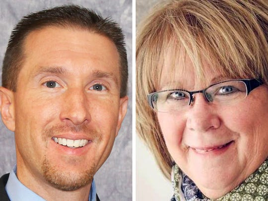 Supervisor Steve Taylor (left) and Patti Logsdon (right) are competing for Milwaukee County Board District 9 supervisor in the April 3 spring election.