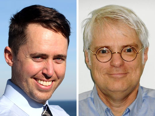 James Davies (left) is competing against Steven Shea (right) for Milwaukee County Board District 8 supervisor in the April 3 spring election.