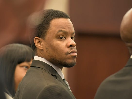 Timothy Batts in the courtroom while awaiting a verdict