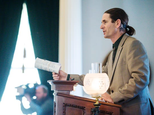 "Lt. Gov. David Zuckerman was in the House of Representatives when he signed on as one of 23 additional sponsors of a 2010 Vermont bill banning ""bots,"" or automated systems that buy tickets for the purpose of reselling them at a higher price. Zuckerman is seen here presiding over the Senate in January."
