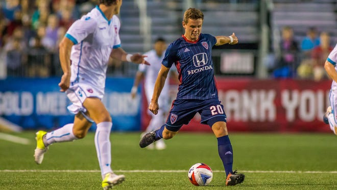Former Butler star David Goldsmith (right) is carving out a role with the Indy Eleven.