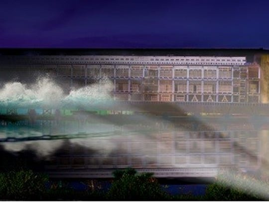 Rendering from the Ark Encounter of what some of the