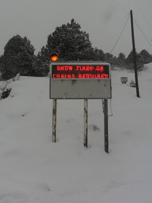 A warning to travellers leaving Ouray before heading over Red Mountain Pass