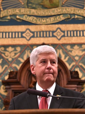 Gov. Rick Snyder spoke directly to Flint residents