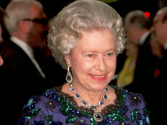 The queen arrives for the annual Royal Variety Performance
