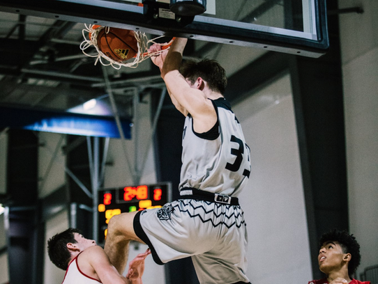 Iowa State target Tyler Wahl (dunking) will take an