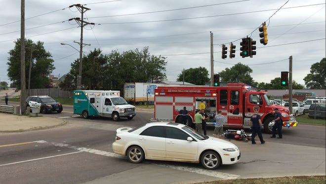Crews investigating the scene of a hit-and-run at North Drive and 4th Avenue Saturday, June 25.