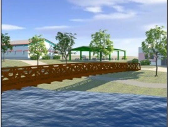 Renderings show what the trussel across the Whitewater course will look like.