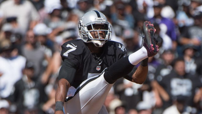 Marquette King, the only black punter in the NFL, is in his fifth season with the Raiders.