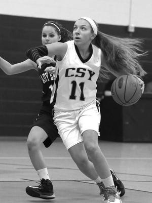 Christian School of York junior Kendis Butler (11) was one of girls' basketball players from the Crusaders to earn CCAC all-star recognition.
