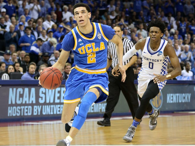 UCLA freshman guard Lonzo Ball.