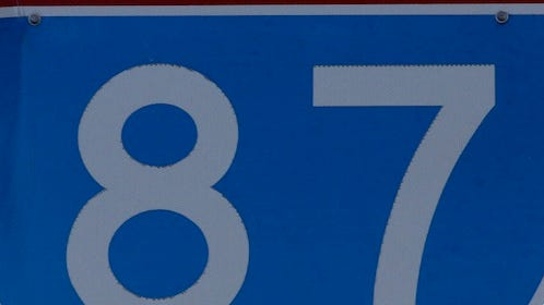 Interstate 87 road sign.