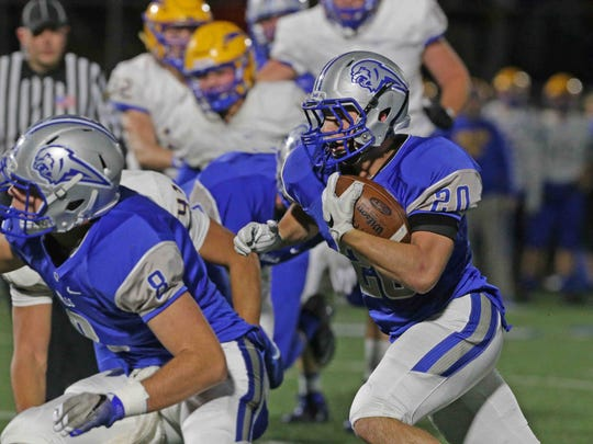 Jackson Sweeney (20) is the Royals' top returning rusher.