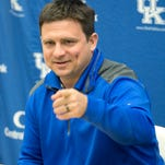UK's first year offensive coordinator Shannon Dawson addresses the media about UK's 2015 football signees. (February 4, 2015)