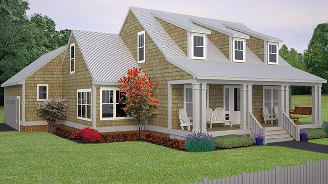 Triple dormers add to the classic Cape Cod curb appeal. Imagine catching sea breezes on that wide porch!