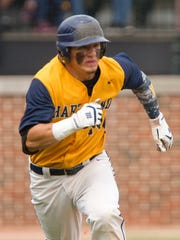 Hartland's Brett Oliver had the game-winning hit in the 2015 state championship baseball game.