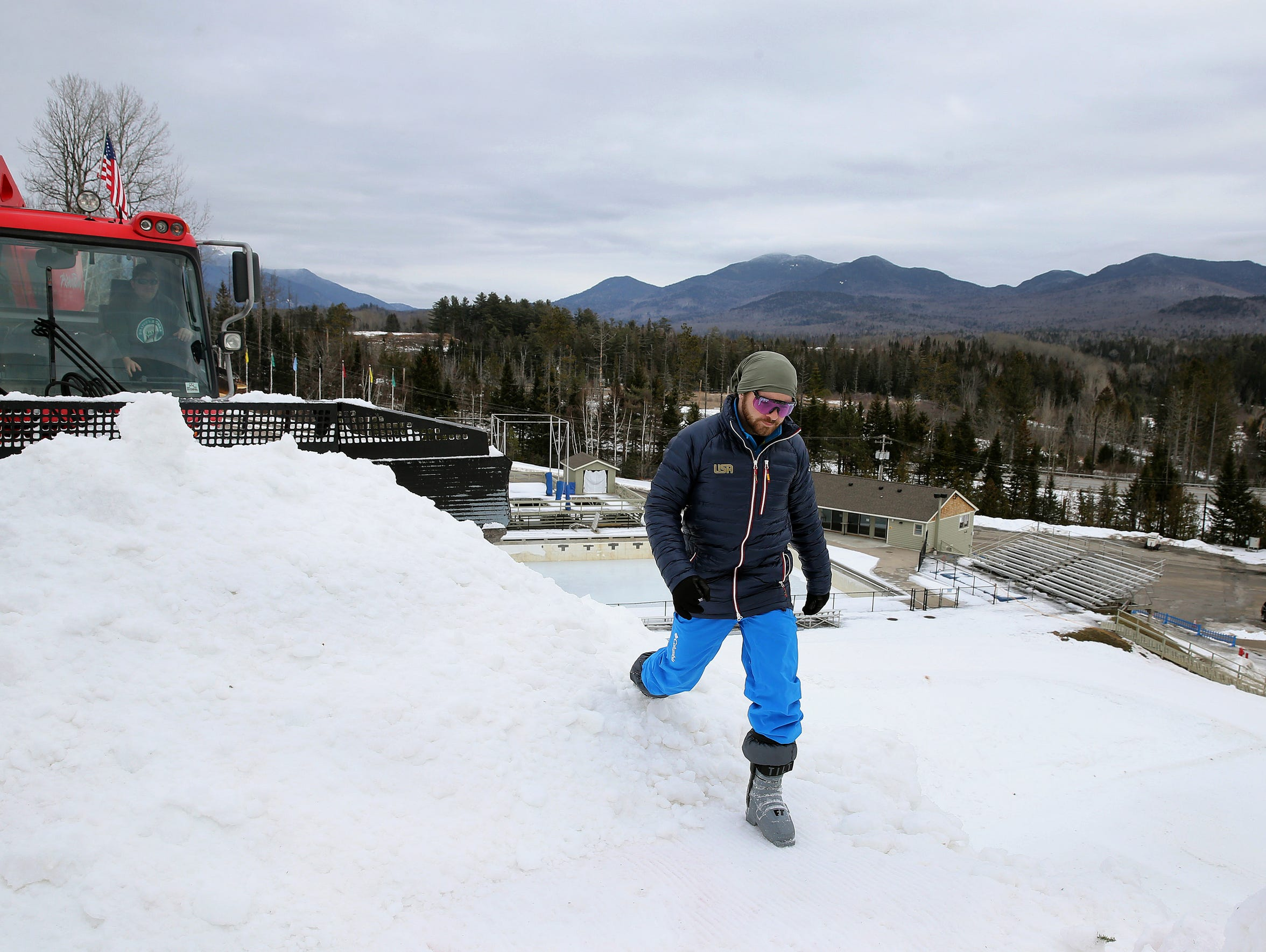 Rochester's Jon Lillis trains in Lake Placid last month