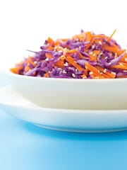 An Easy Asian carrot cabbage salad
