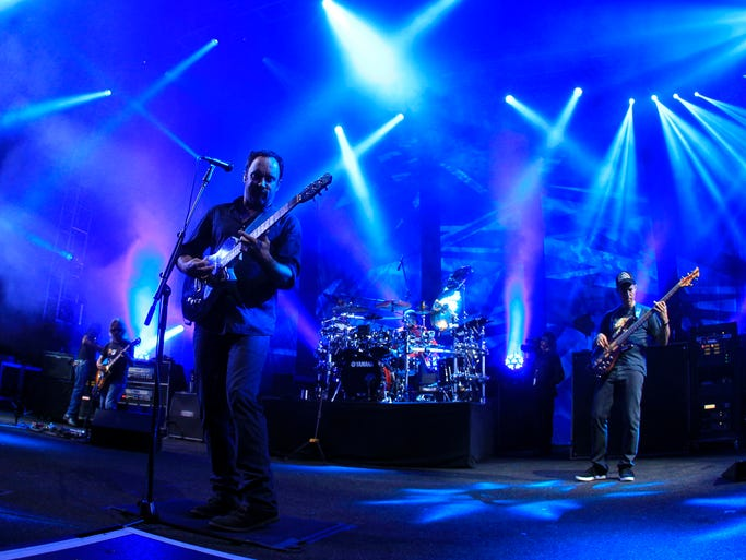 Dave Matthews performs his electric set at Darien Lake on Wednesday, June 11, 2014, in Darien, N.Y. (AP Photo/Buffalo News, Harry Scull Jr.)