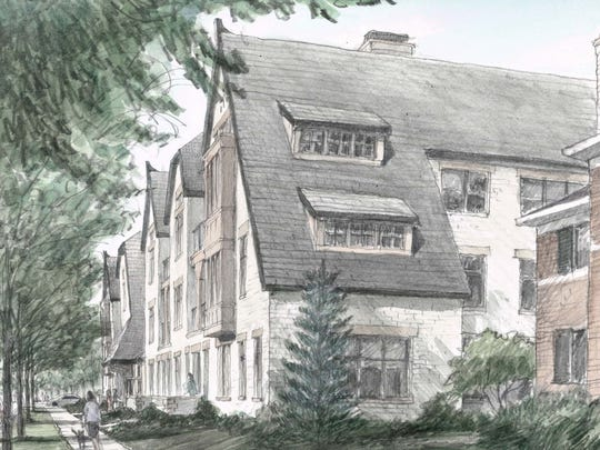 Here's another rendering showing Hampstead Park from a different angle.