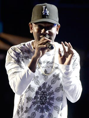 Rapper Kendrick Lamar performs during the 2013 BET Awards on  June 30 in Los Angeles.