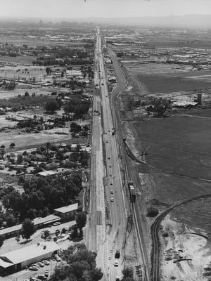Grand Avenue has been important in Arizona transportation history. This view is from Oct. 30, 1963.