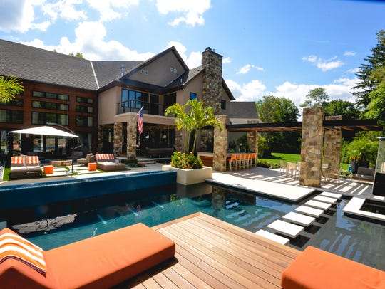 Franklin Lakes backyard designed by Rick Zimmer, of