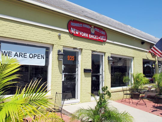 Brooklyn Dough With A Hole bagel deli launched in early September at 935 Third Ave. N. next to Bill's Cafe in Naples.