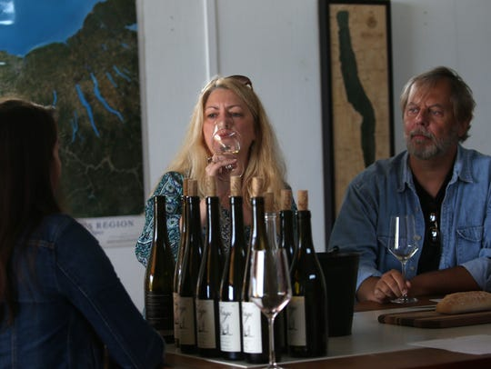 Muriel and Jake Kurdsjuk during a tasting at Forge