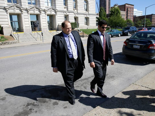 Former lottery security officer Eddie Tipton, left,