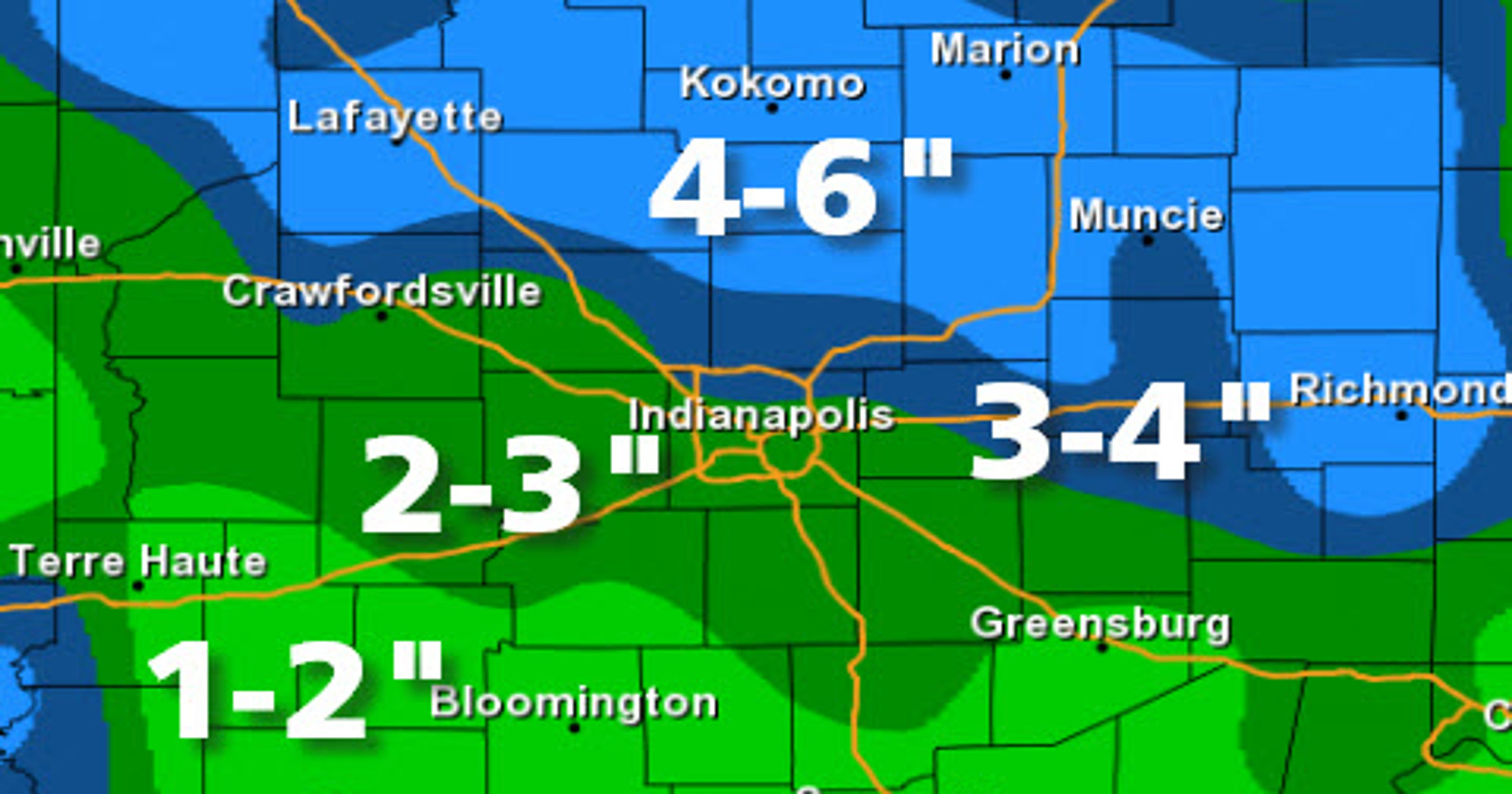 Indianapolis Weather Up To 6 Inches Of Snow Fell In Central Indiana