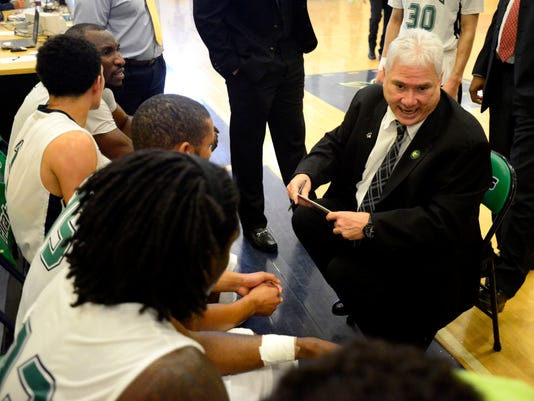 PSC basketball coach Pete Pena