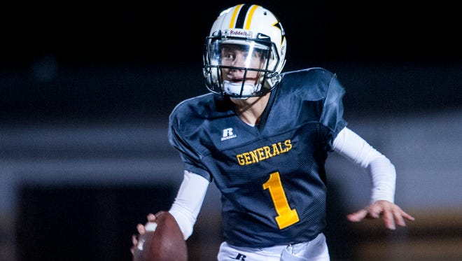 Autauga Academy's ranking now matches the jersey number of quarterback Tripp Carr.