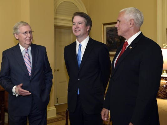 Mitch McConnell,Mike Pence,Brett Kavanaugh